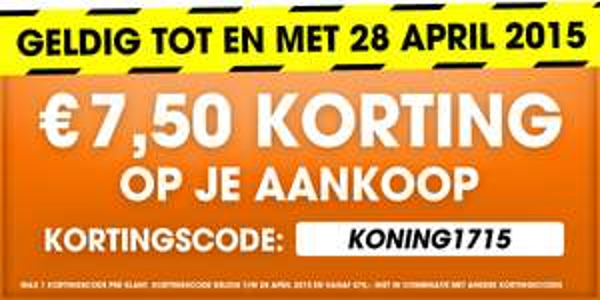 Kortingscode voor €7,50 korting (min. besteding €75) @ Bobshop