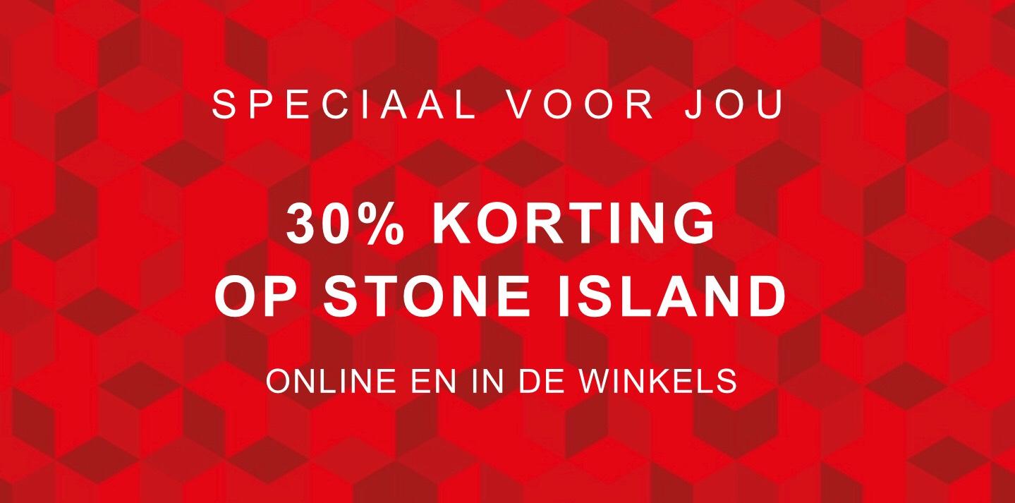 30% korting met code op Stone Island: Online en in de winkel @Bijenkorf