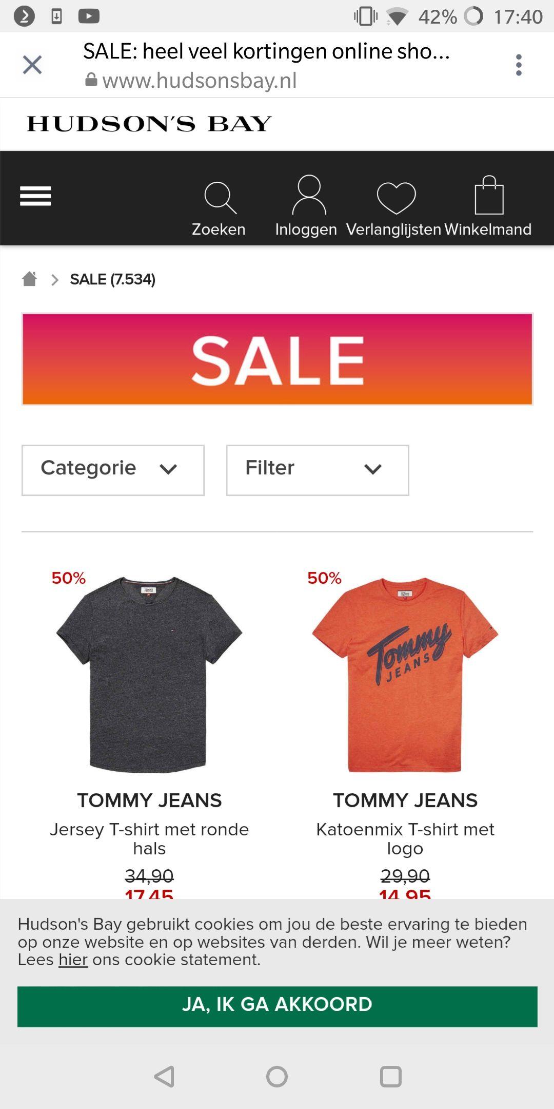 50% Korting TommyHilfiger/CalvinKlein !!!
