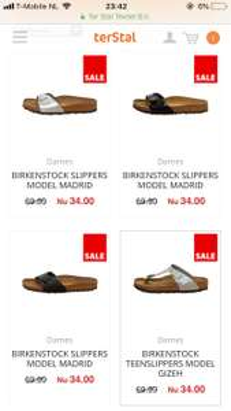 Birkenstock verschillende modellen €34,00 bij TerStal   Webshop only!