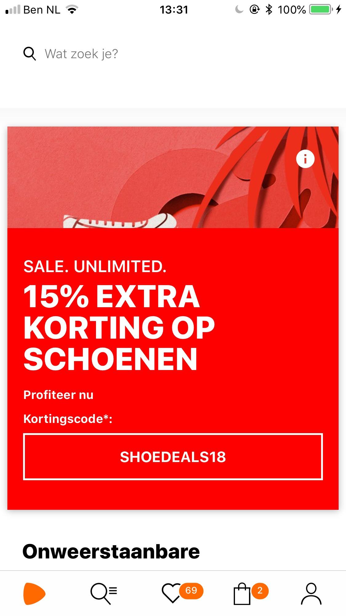 Vanaf 100,- 15% korting op schoenen bij de Zalando!