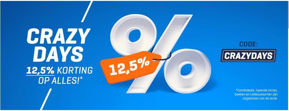 12,5% korting op ALLES!*