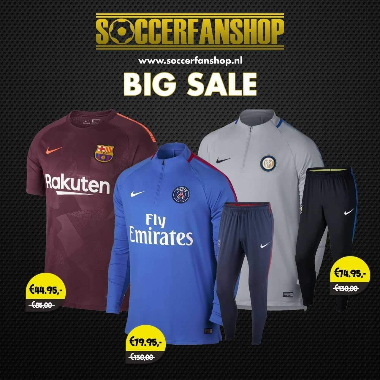 Big Sale 2018 bij Soccerfanshop
