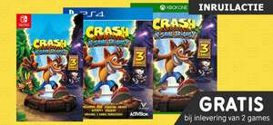 Crash Bandicoot N. Sane Trilogy gratis bij inlevering van 2 PS4/XONE/Switch games @ Gamemania