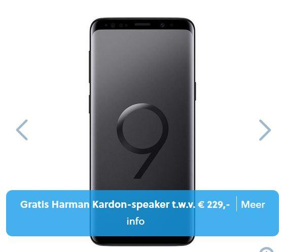 Samsung Galaxy S9 64GB Zwart voor EUR 569,69 bij Mobiel.nl (incl aansluitkosten en Gratis Harmon Kardon speaker!)