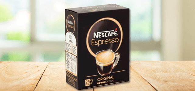 NESCAFÉ Espresso 25 sticks: van €2,59* voor €1,- @Scoupy