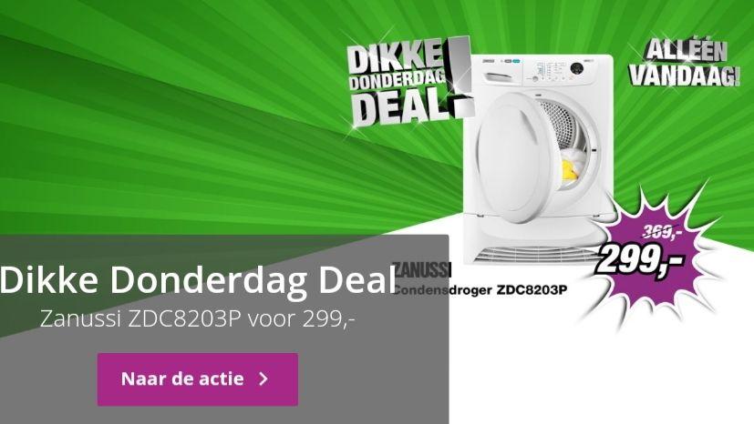 Zanussi condensdroger ZDC8203P €299,-