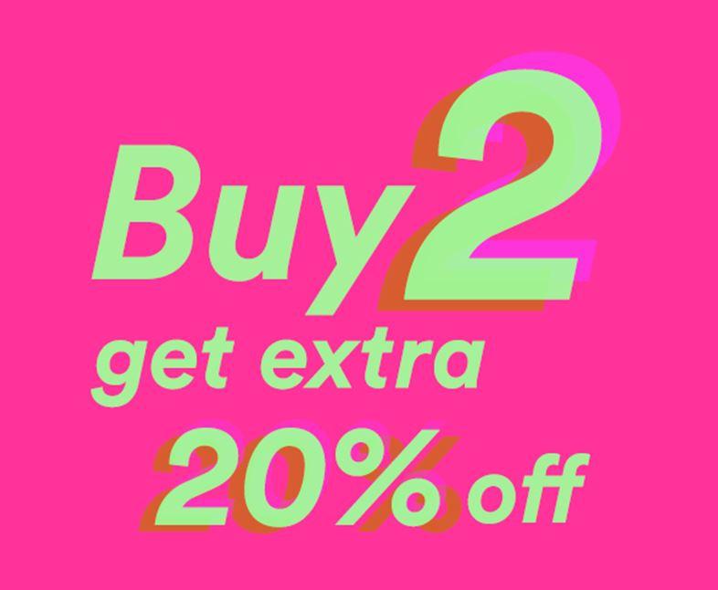 Veel sale -70% + 20% extra korting va 2 artikelen @ Sneakernstuff.com