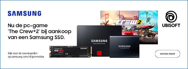 Gratis The Crew 2 (PC) bij aankoop van een promotiemodel Samsung SSD