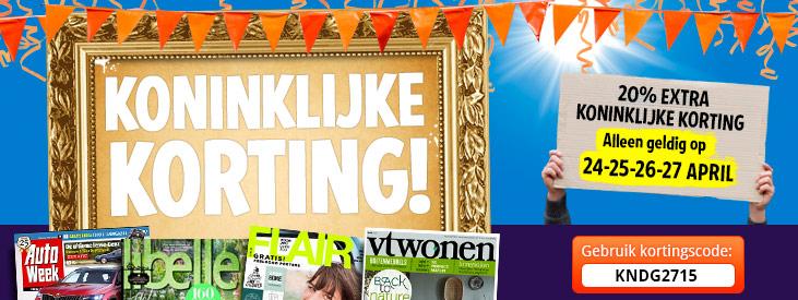 kortingscode voor 20% extra korting op alle aanbiedingen @ Magazine.nl
