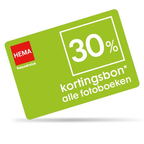 30% kortingsbon op alle fotoboeken @ HEMA