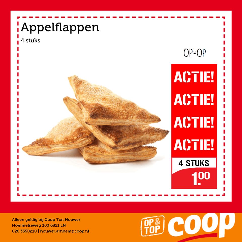 [LOKAAL] Caloriebom --> 4 appelflappen voor €1 (Coop Ton Houwer Arnhem)