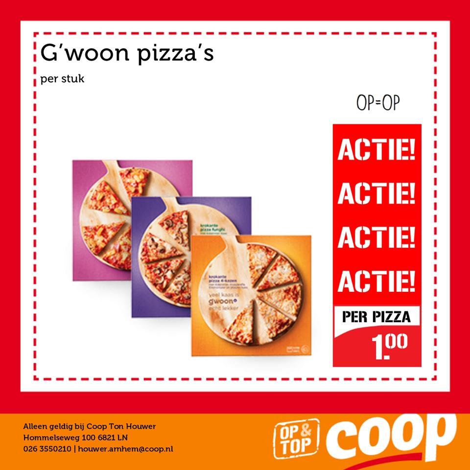 [LOKAAL] IJSKOUDE ACTIE --> Diepvriespizza Markant / G'woon van €1,99 voor €1,00 (Coop Ton Houwer Arnhem)