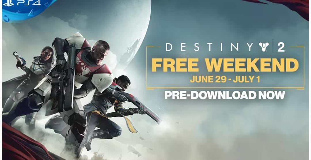 Free weekend Destiny 2 op Playstation platform