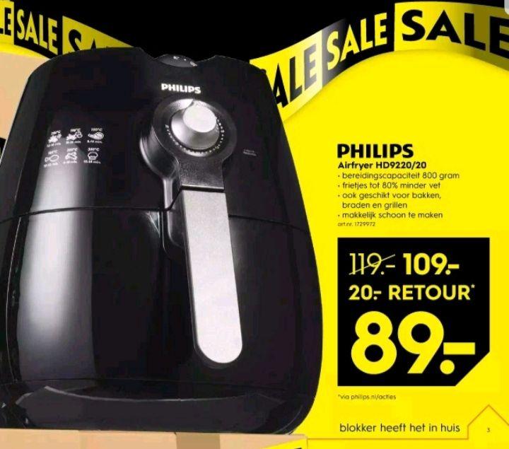 @Blokker Philips airfryer €89