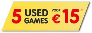 5 USED-games (PS3/X360/DS/Wii) voor €15 @ Gamemania
