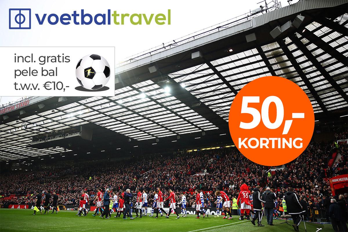 Premier League voetbalreis met €50,- korting