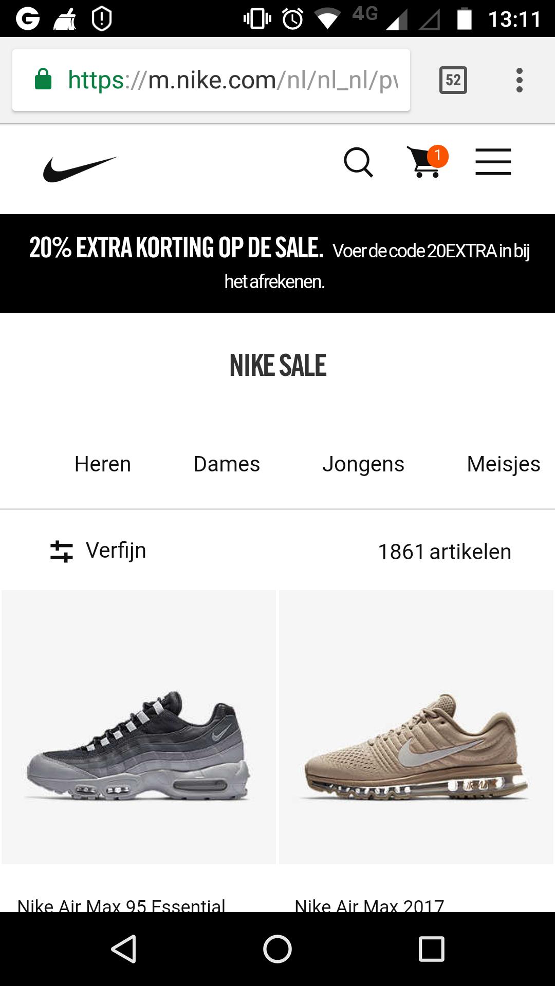 Diverse Sale NIKE 20% extra, Dames Heren Kids