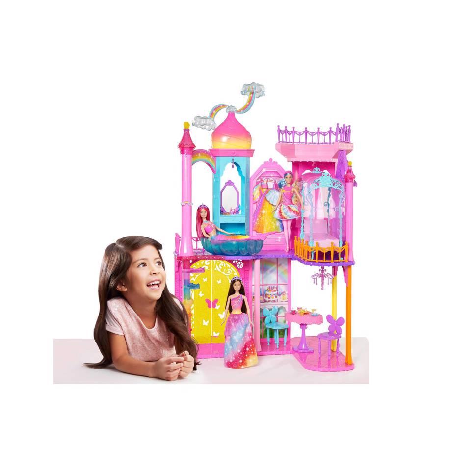 Barbie Regenboogkasteel €59,99 @ Wehkamp
