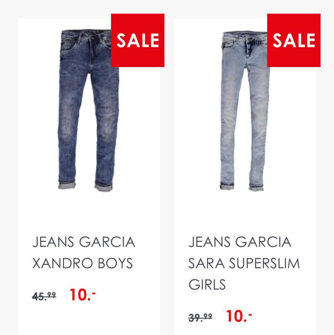 Garcia boys/girls jeans voor €10,- incl. verzending @Jeans Centre