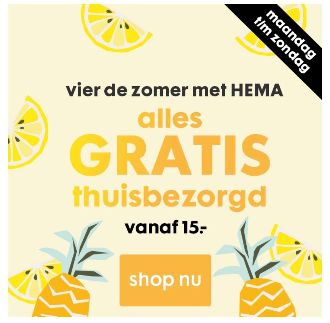 HEMA- Gratis verzenden vanaf 15€