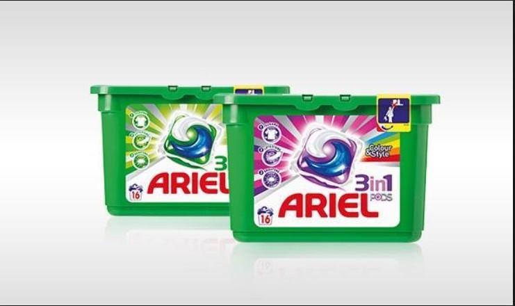 [winkel]Kruidvat Ariel 3 in 1 pods 12 stuks color/ 14 stuks orginal