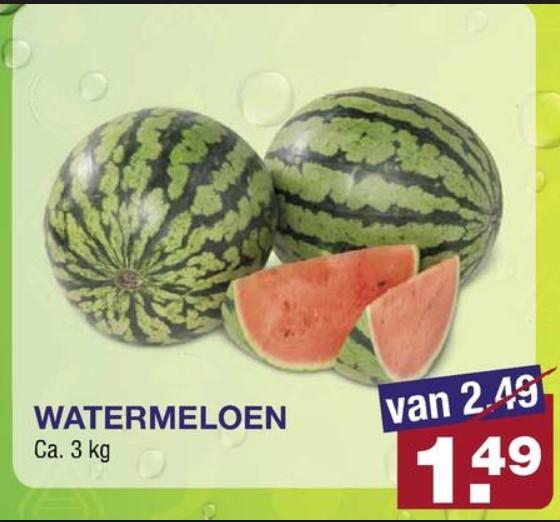 [Winkel] Aldi watermeloen voor 1.50