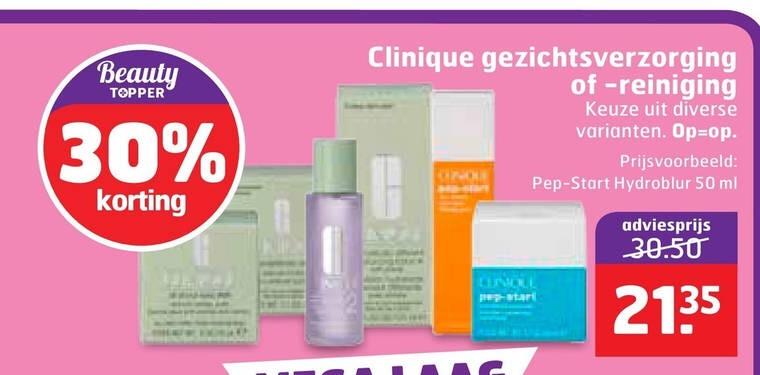 30% korting op Clinique producten