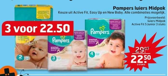 3 midpakken Pampers voor €22,50 @ Trekpleister