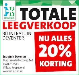 20% korting bij Intratuin Deventer