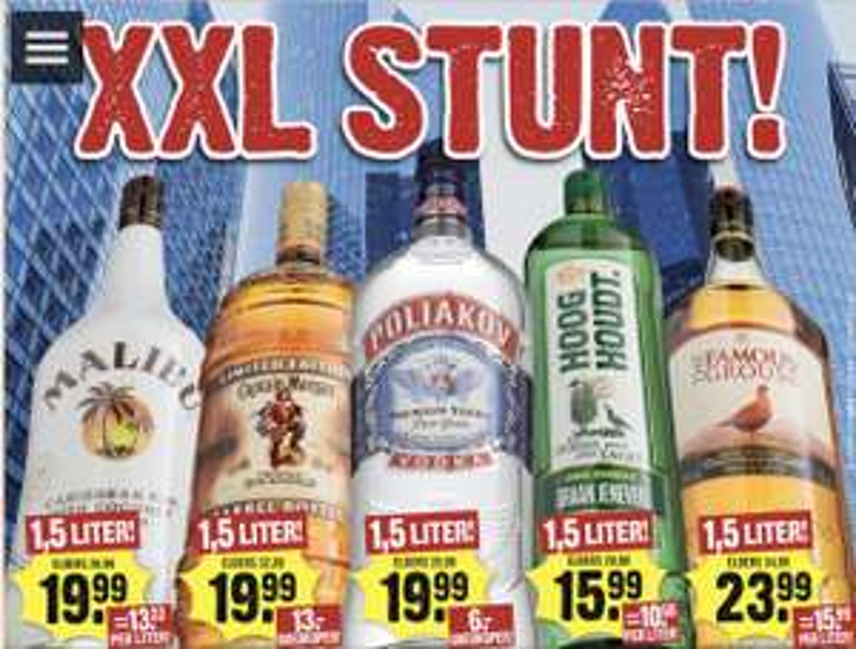 Diverse 1,5 liter flessen drank voor €15,99-€23,99