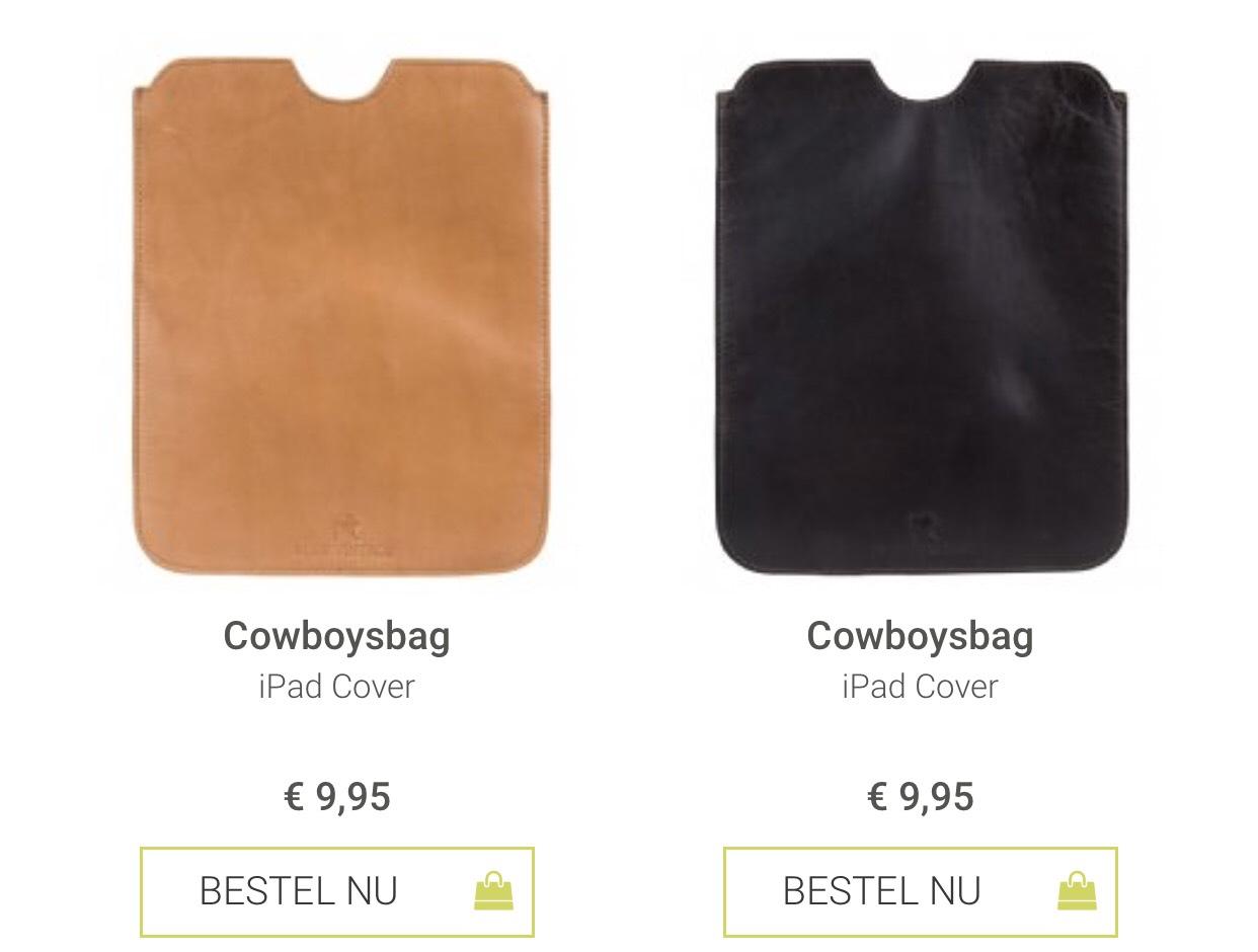 Ipad cover, echt leer voor €9.95