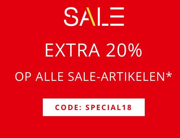 20% EXTRA korting op de Sale bij ESPRIT