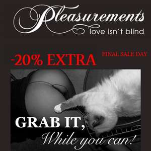 Met code 20% extra korting @ Pleasurements