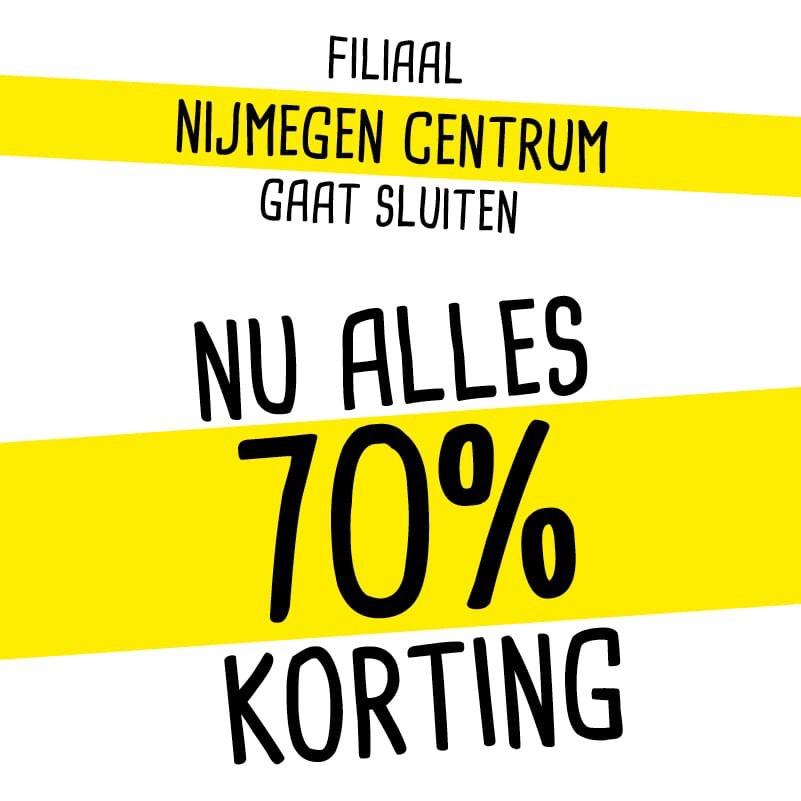 Xenos Nijmegen Centrum nu ALLES 70 procent korting