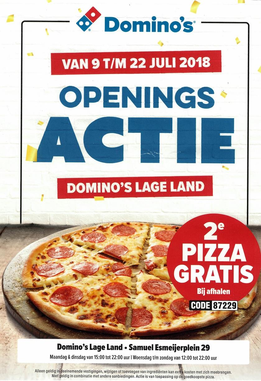 Domino's tweede pizza gratis Rotterdam Samuel Esmeijerplein