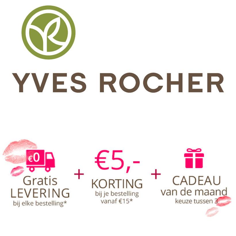 Alles -50% + €5 korting va €15 + gratis verzending + sale tot -70% + cadeau @ Yves Rocher