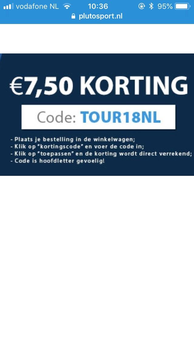 €7,50 korting bij Plutosport op je fietsoutfit. Minimale besteding €50,-