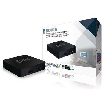 Konig DVB-TS2 4KASB 4K Android Streaming Box Met Fly Mouse @Bolplaza