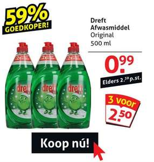 3 x 500 ml Dreft voor 2,50