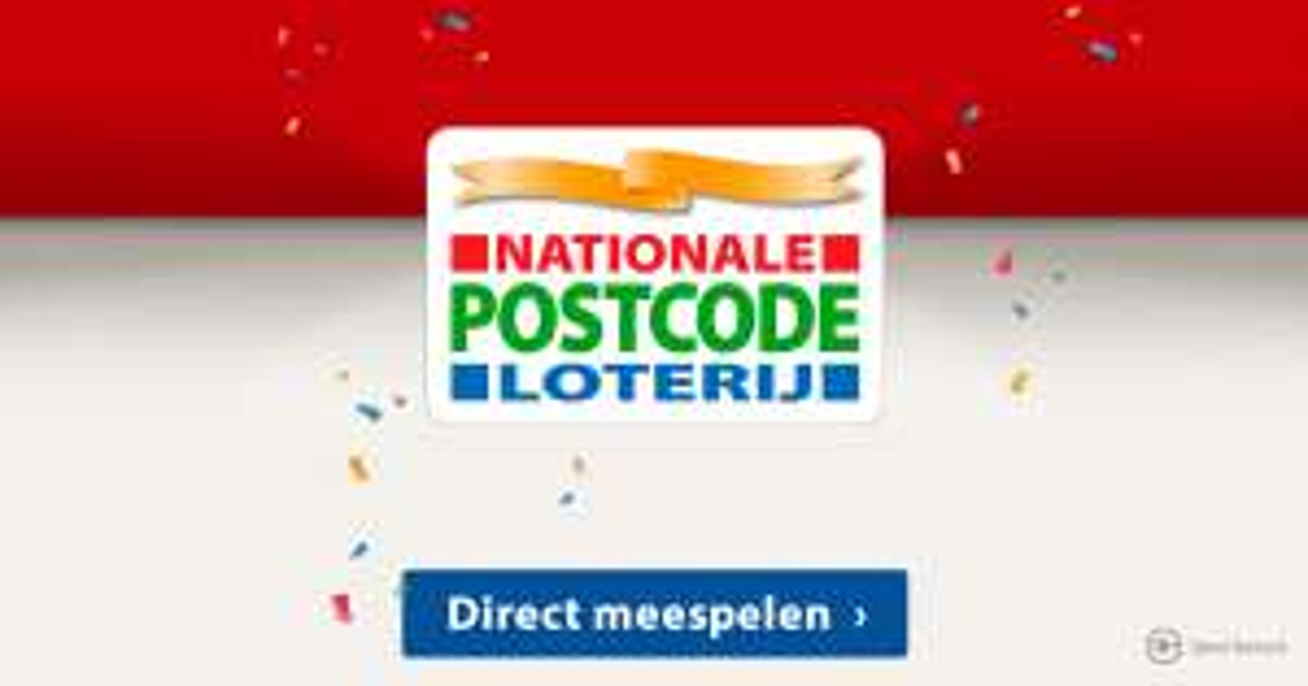 Postcodeloterij - 1e maand gratis + 15 euro cadeaukaart Hema