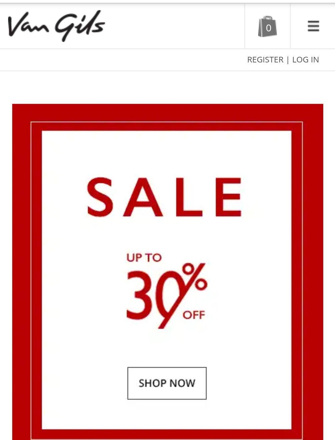 Van Gils sale 30%