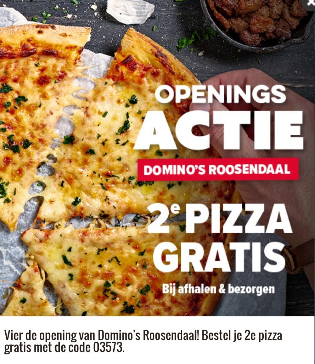 2de pizza gratis Roosendaal openingsactie
