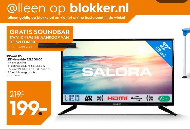 Salora tv met gratis soundbar