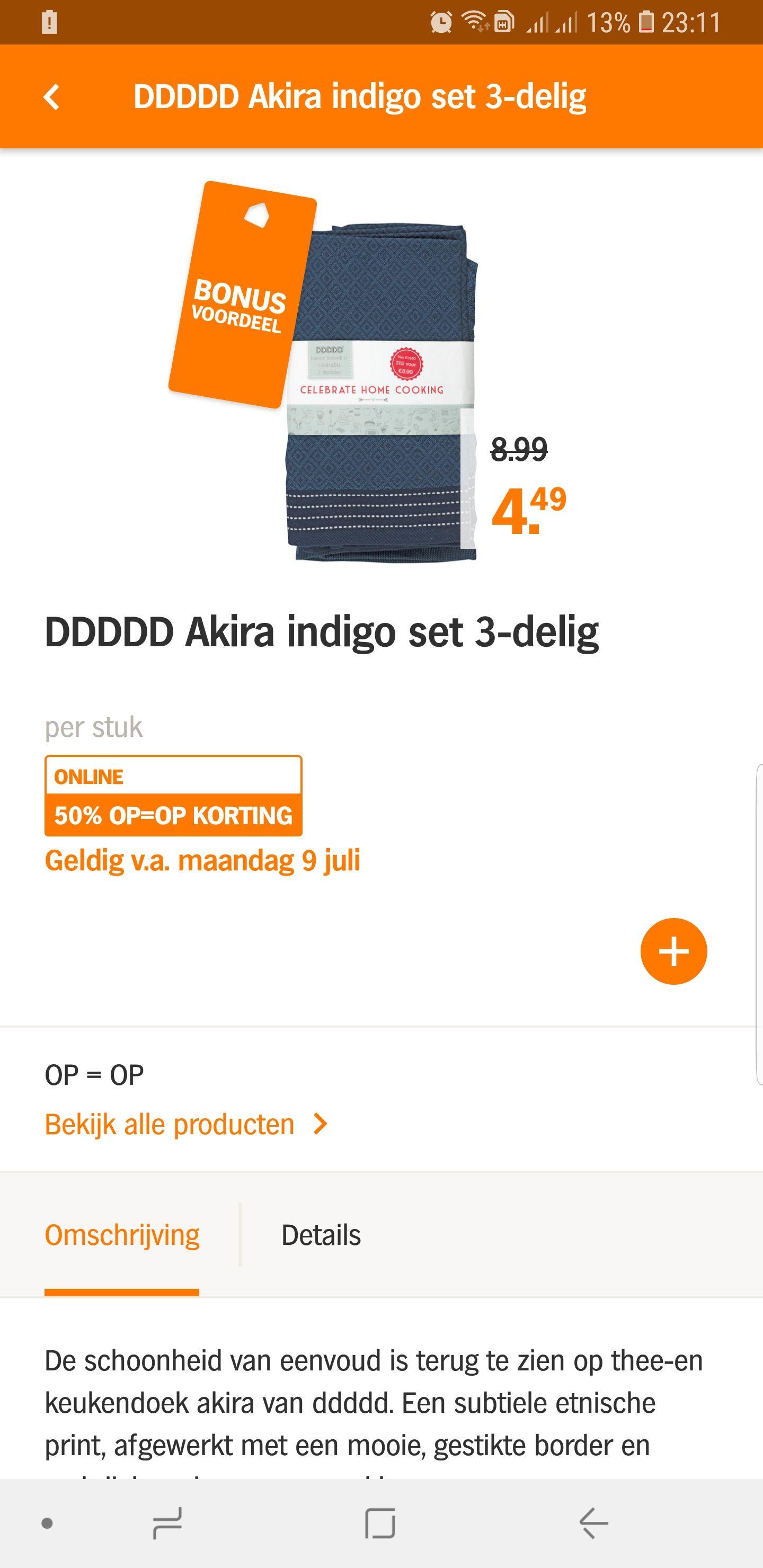DDDDD 1 handdoek 2 theedoeken verschillende kleuren set 3-delig