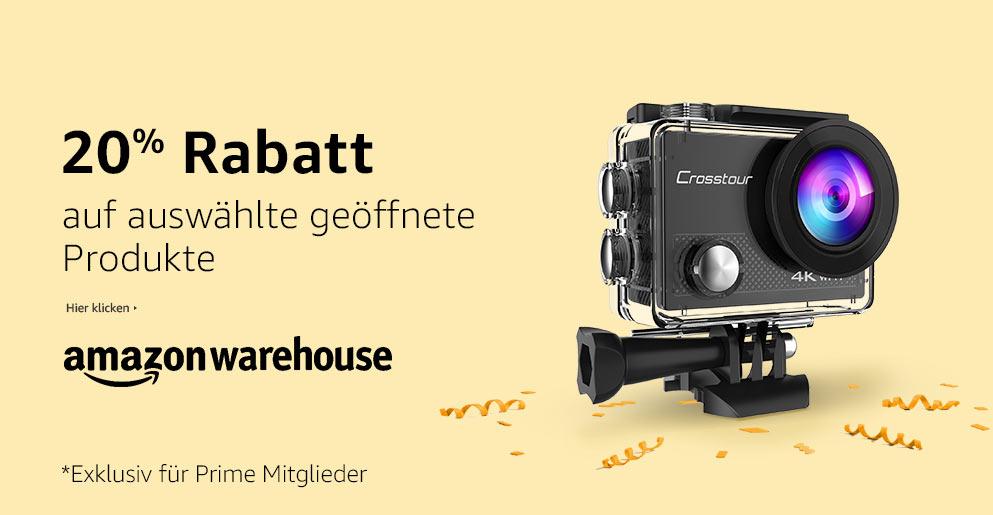 20% extra korting op geselecteerde Warehousedeals artikelen @  Amazon.de/Amazon.fr/Amazon.it/Amazon.uk (Prime)