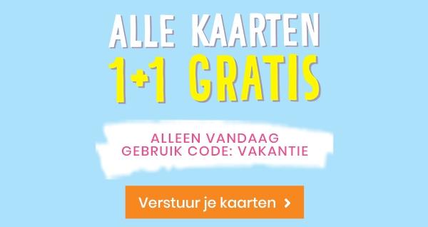1+1 gratis kaarten @ hallmark