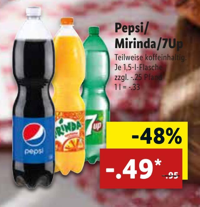 Pepsi en 7up (Grensdeal)