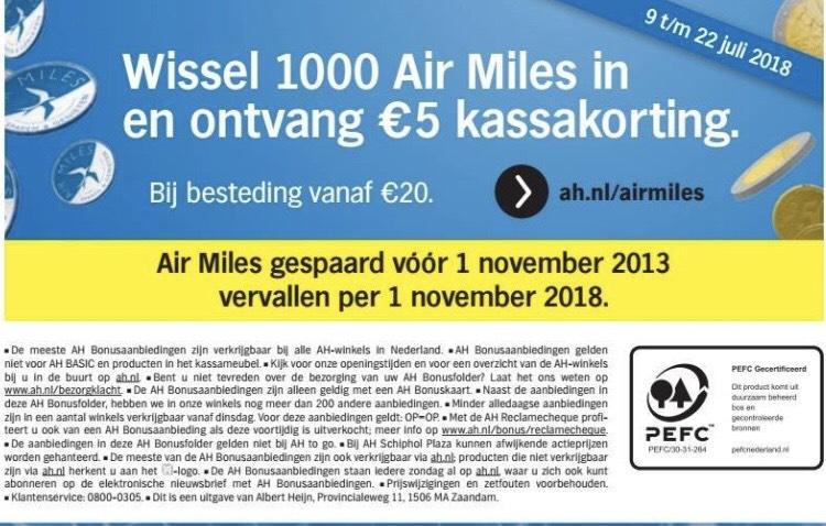 Airmiles korting AH