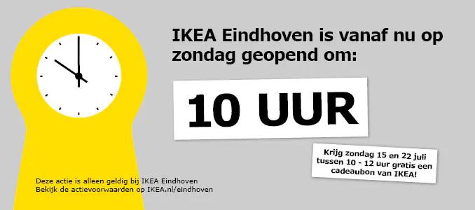 Ikea Eindhoven: Op zondag 15 en 22 juli een cadeaupas ter waarde van € 10 bij een besteding vanaf € 100